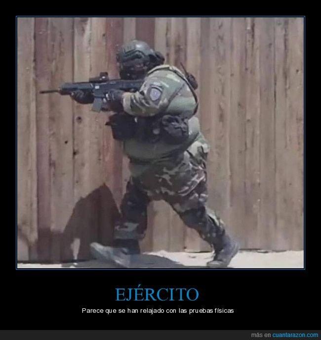 ejército,sobrepeso,soldado