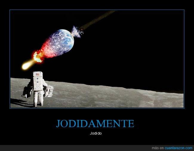 asteroide,astronauta,luna,tierra