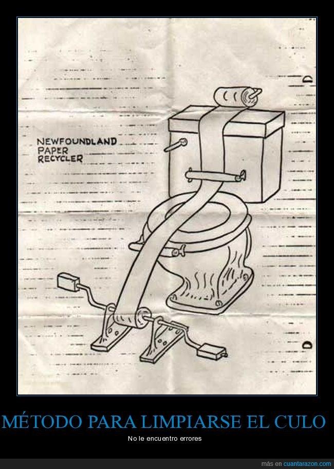 invento,papel higiénico,váter