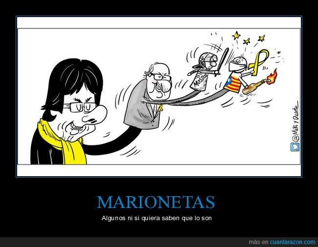 cataluña,manifestantes,marionetas,mossos d'esquadra,políticos,puigdemont,torra
