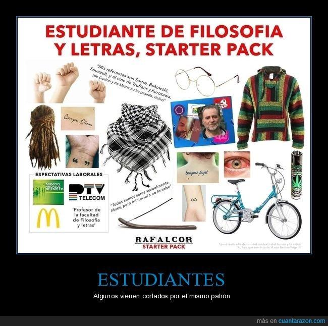 estudiante,filosofía,starter pack