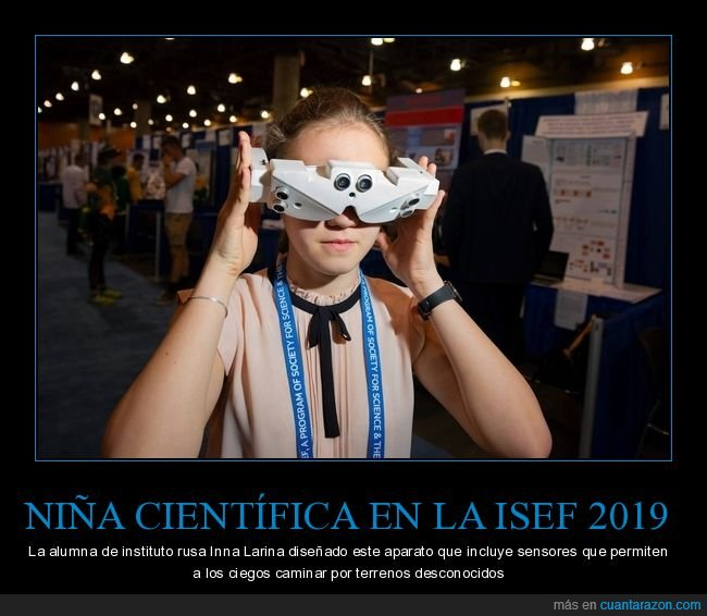 aparato,ciegos,ciencia,niña