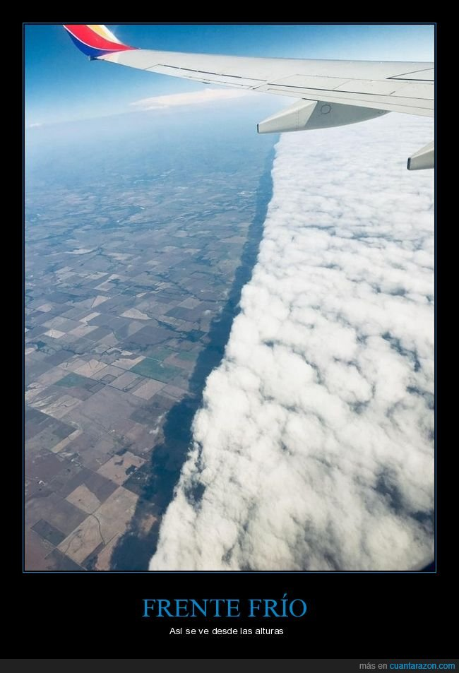 alturas,avión,frente frío