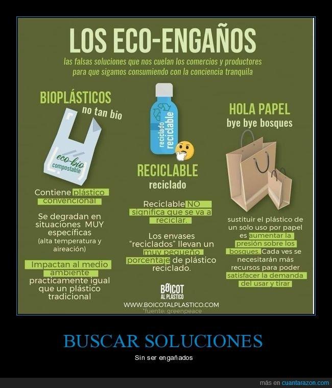 engaños,plástico,reciclaje