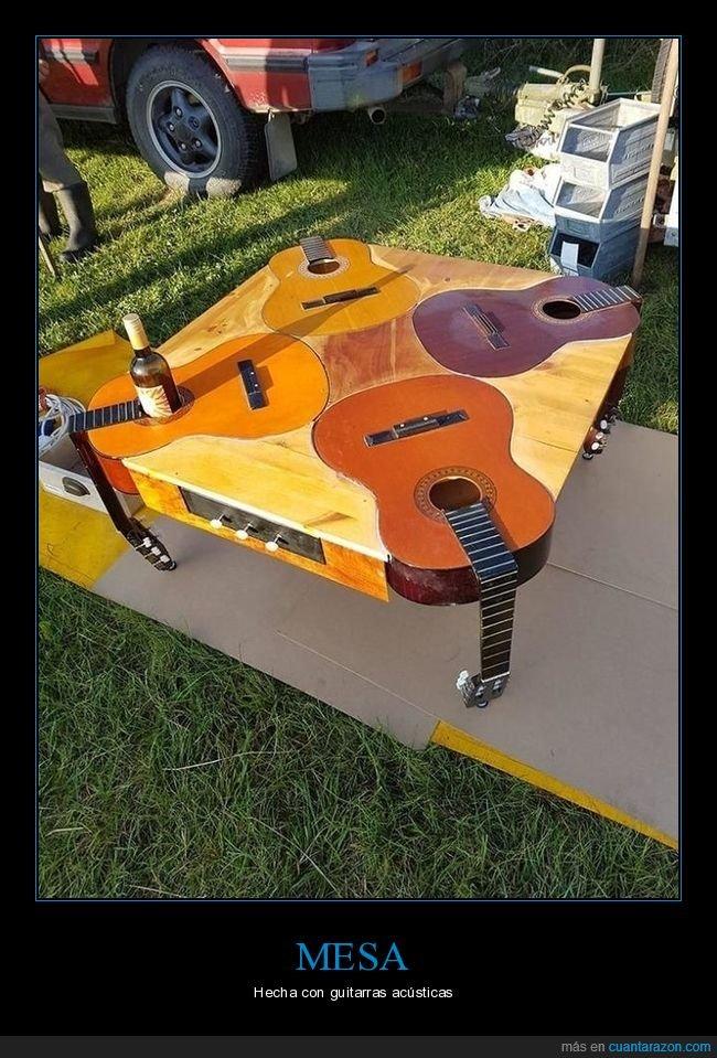 guitarras,mesa