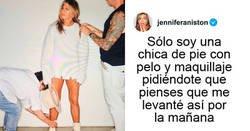"""Enlace a Jennifer Aniston explica por qué tiene tan buen aspecto, y su publicación recibe más de 5 millones de """"me gusta"""""""