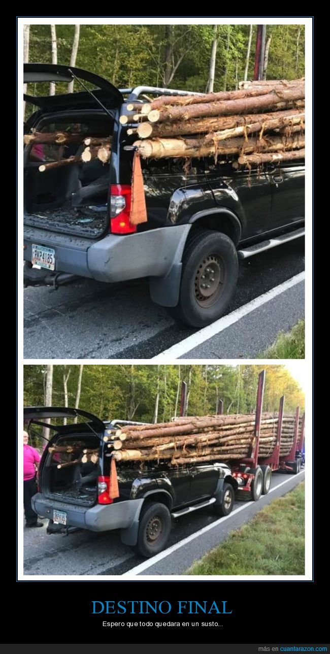camión,fails,troncos,wtf