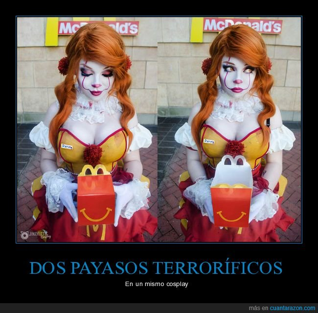 cosplay,it,mcdonald's,pennywise,ronald mcdonald