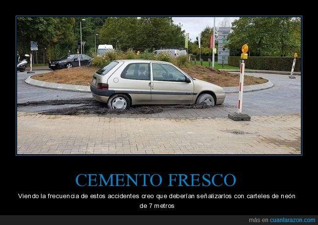 cemento,coche,fails
