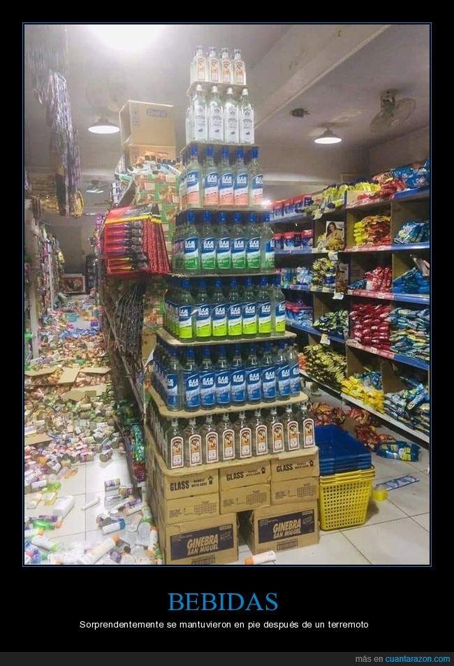 bebidas,terremoto,tienda,wtf