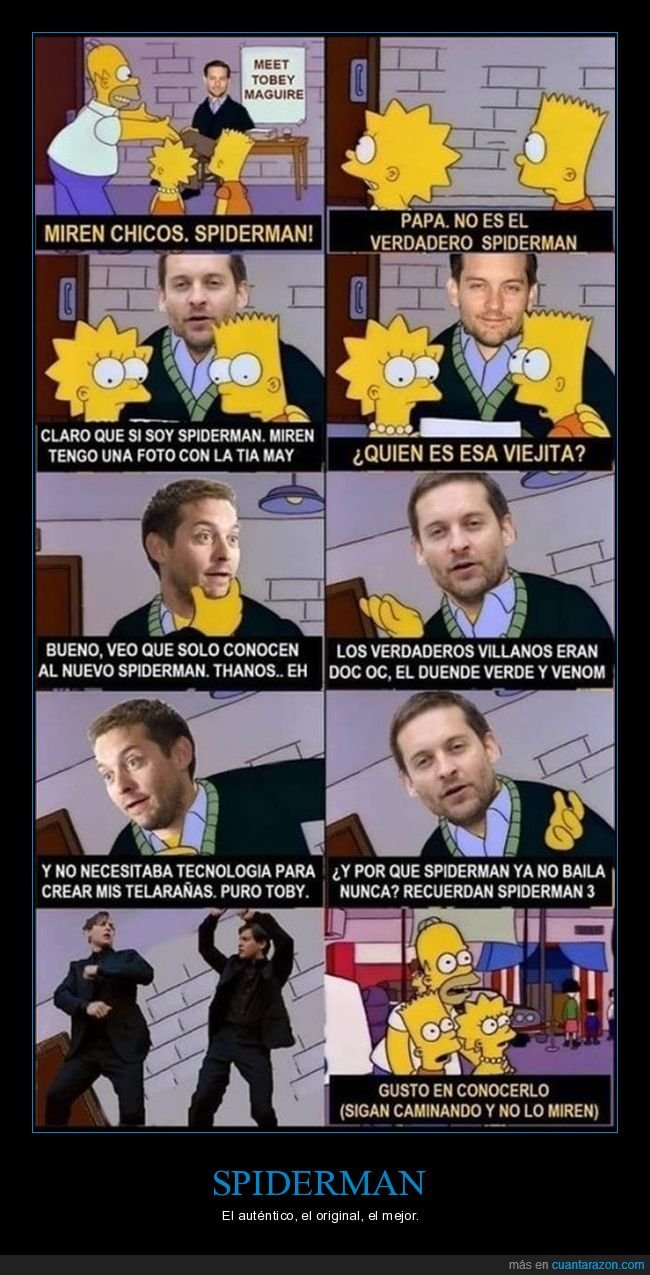 simpsons,spiderman,tobey maguire