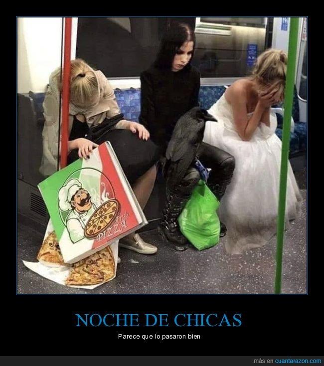 chicas,metro