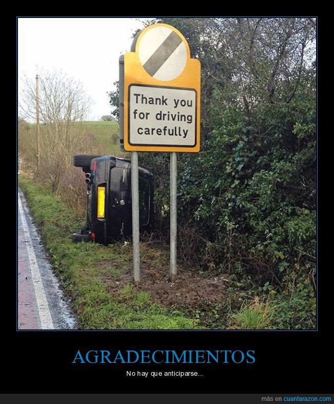 accidente,cartel,conducir,fais,gracias