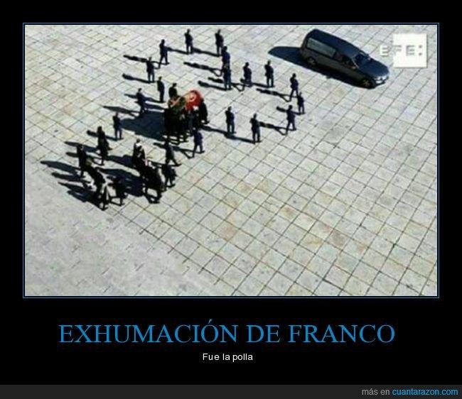 exhumación,franco