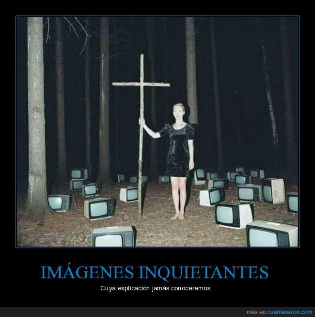 bosque,cruz,televisiones,wtf
