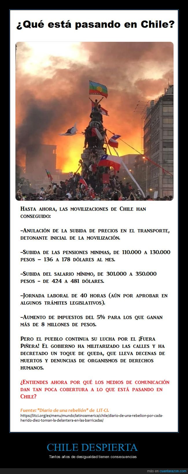 chile,desigualdad,movilizaciones,rebelión
