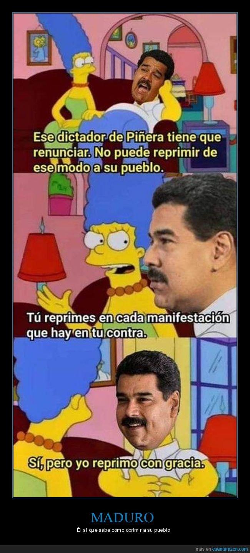 chile,maduro,piñera,políticos,simpsons