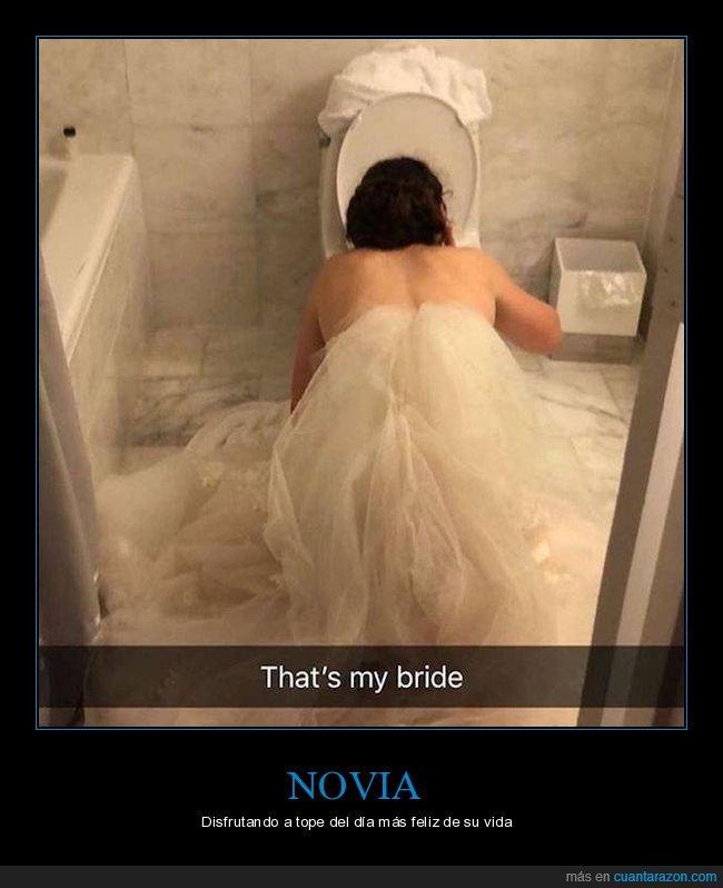 boda,novia,vomitando