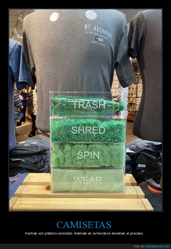 camisetas,plástico,proceso,reciclado