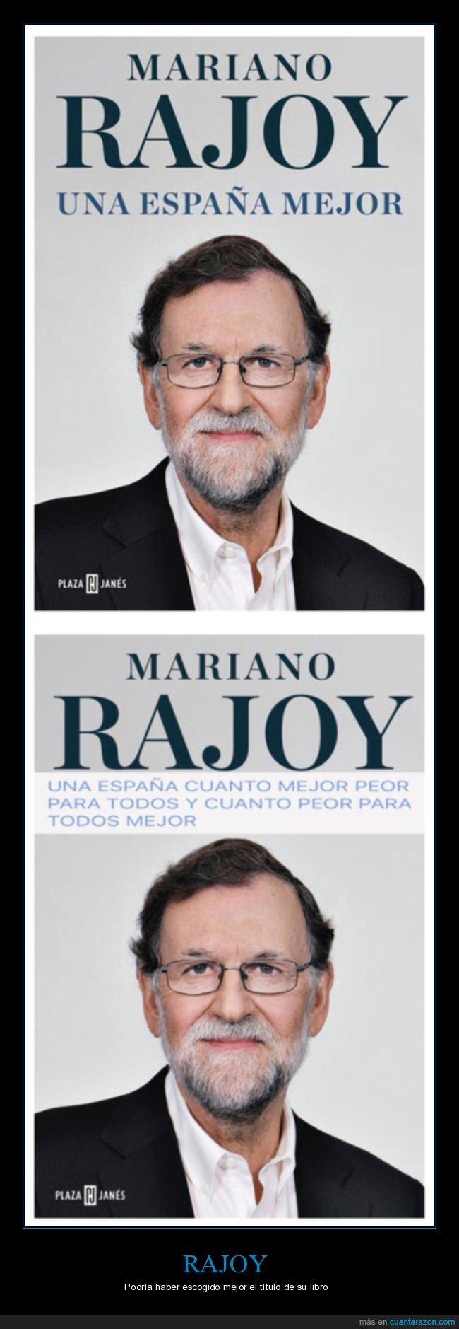 libro,políticos,rajoy,título