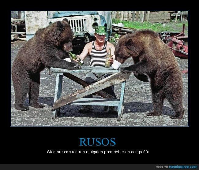 bebiendo,osos,ruso,wtf