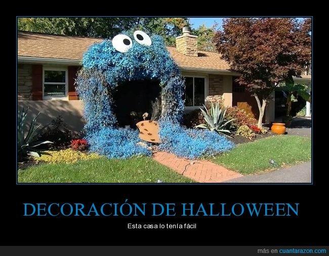 casa,decoración,halloween,monstruo de las galletas