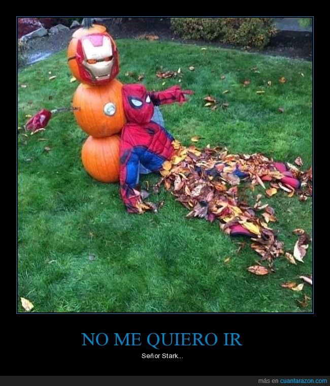 decoración,halloween,iron man,spiderman