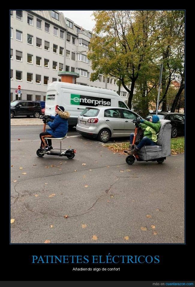 asientos,patinete eléctrico,sillón