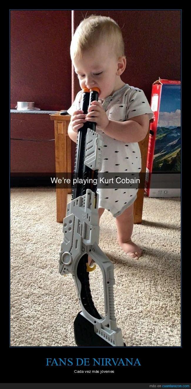 arma,kurt cobain,niño