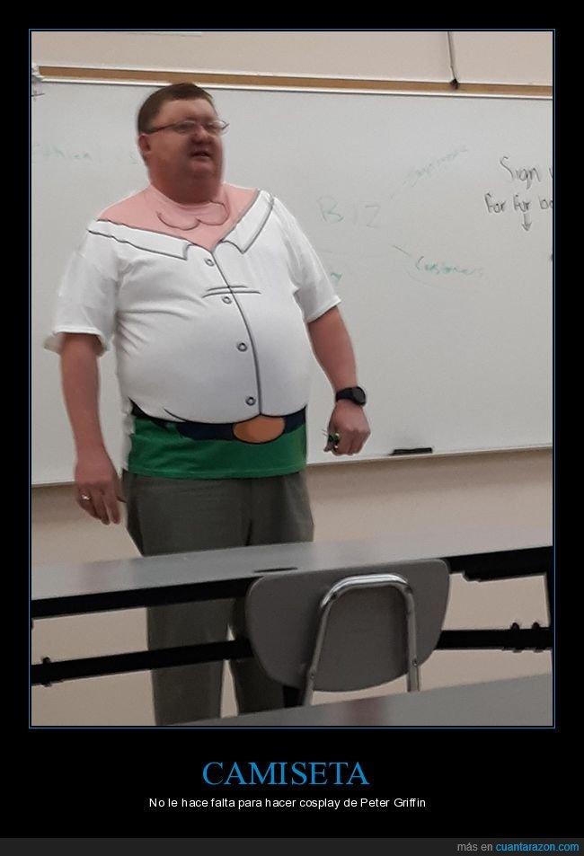 camiseta,disfraz,padre de familia,peter griffin,profesor