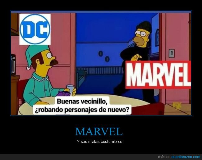 dc,marvel,personajes,robar,simpsons