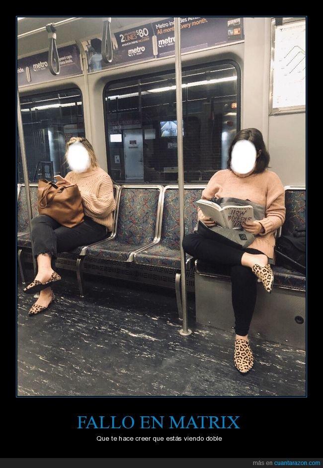 fallo en matrix,iguales,metro,ropa