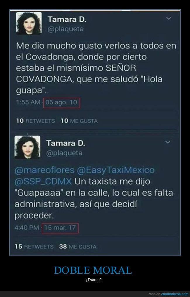 doble moral,guapa,taxista