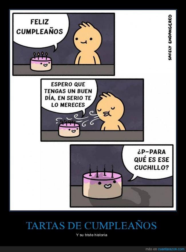 cuchillo,cumpleaños,tarta