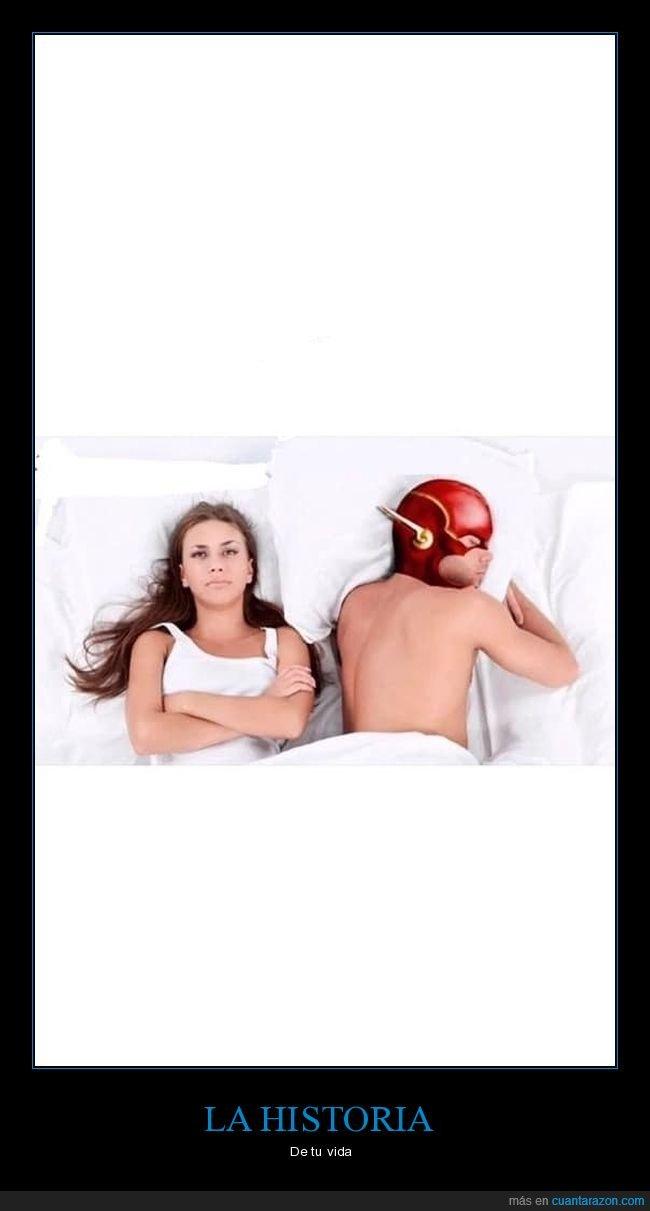 cama,flash,pareja