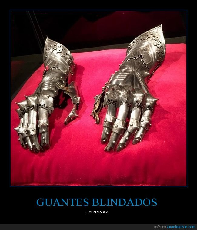 armadura,guantes,siglo xv