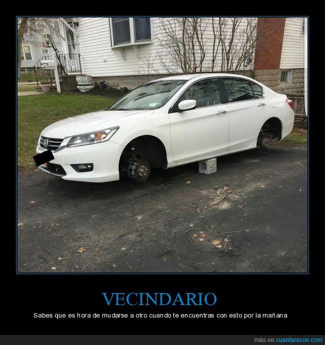 coche,robo,ruedas,vecindario