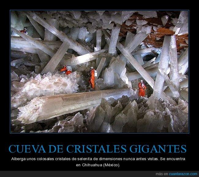 cristales,cueva,gigantes,méxico