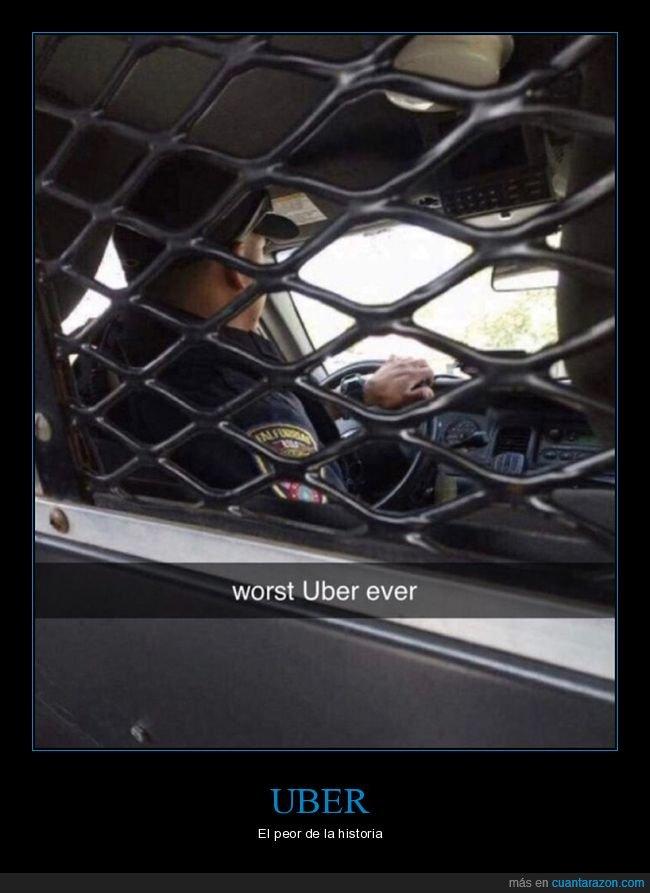 peor,policía,uber