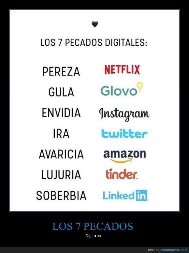 digitales,pecados,redes sociales