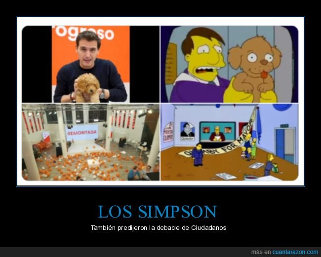 albert rivera,ciudadanos,polítcos,simpsons