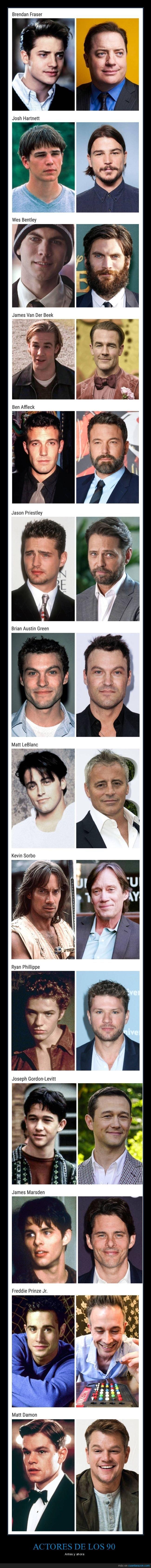 actores,ahora,años 90,antes