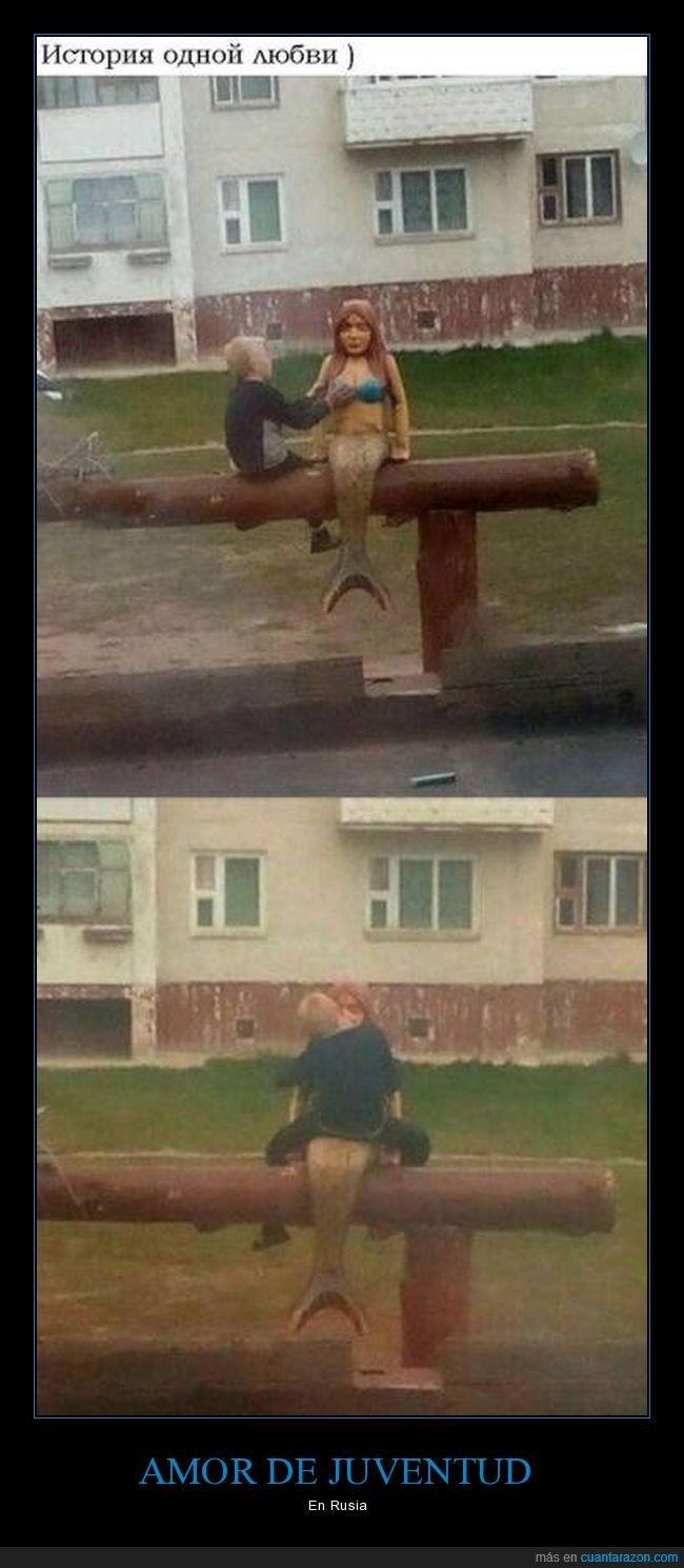 escultura,niño,rusos,sirena,wtf