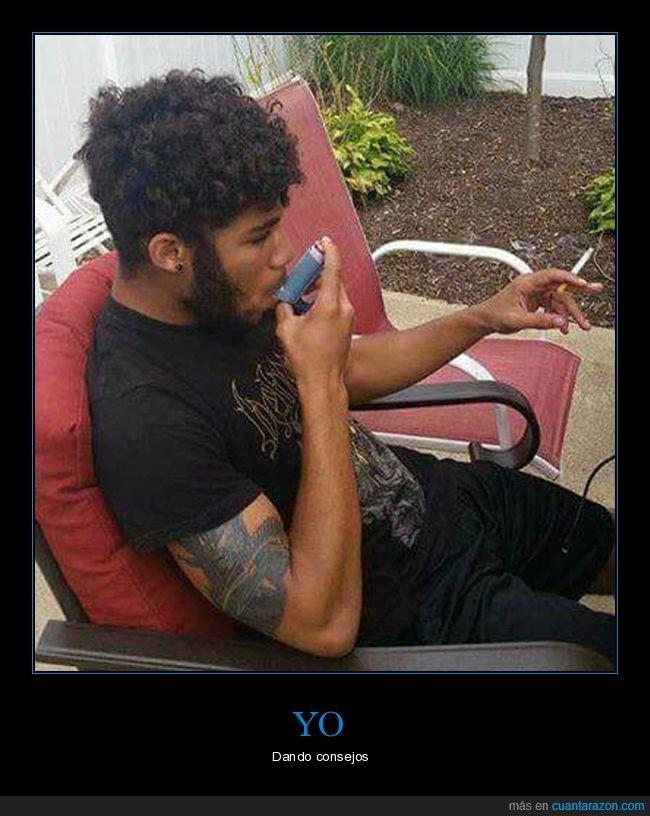 asma,consejos,fumando,inhalador
