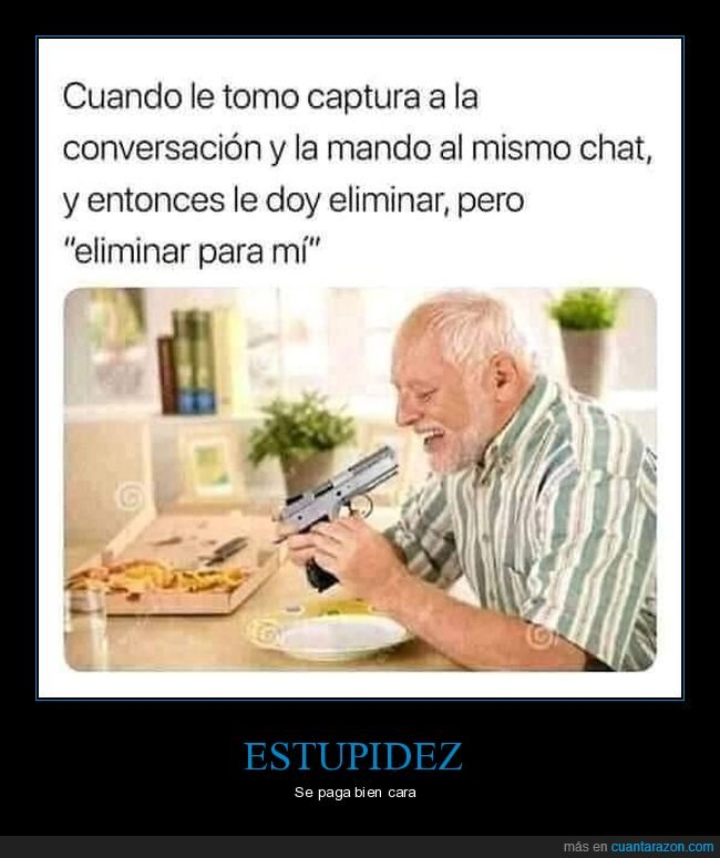 captura de pantalla,conversación,eliminar,fail,hide the pain harold