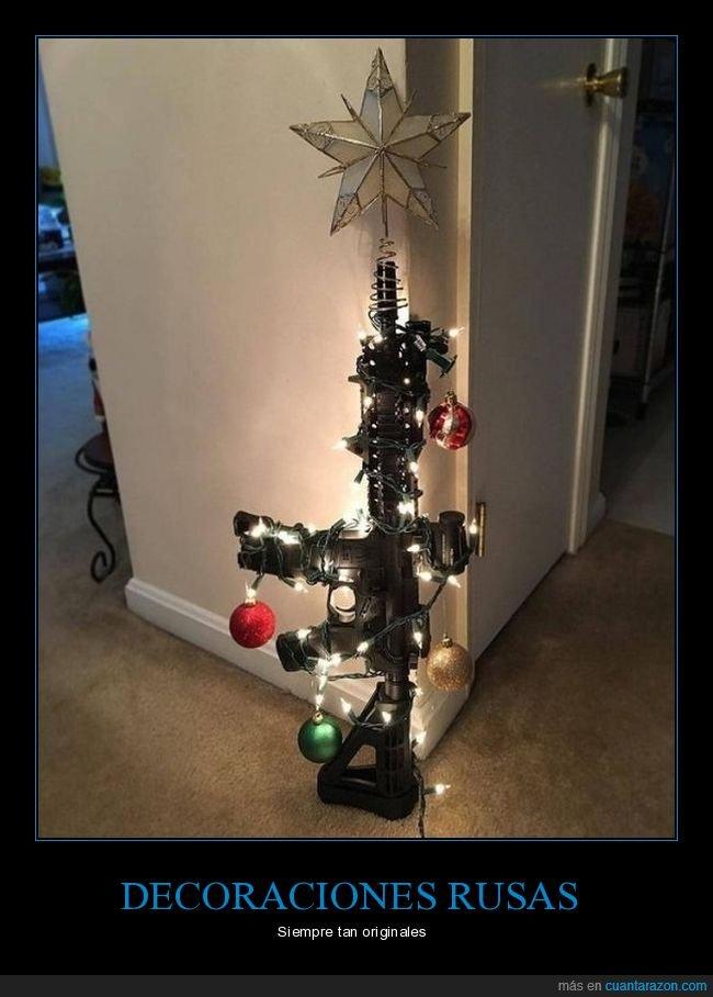 árbol de navidad,arma,decoración,rusos