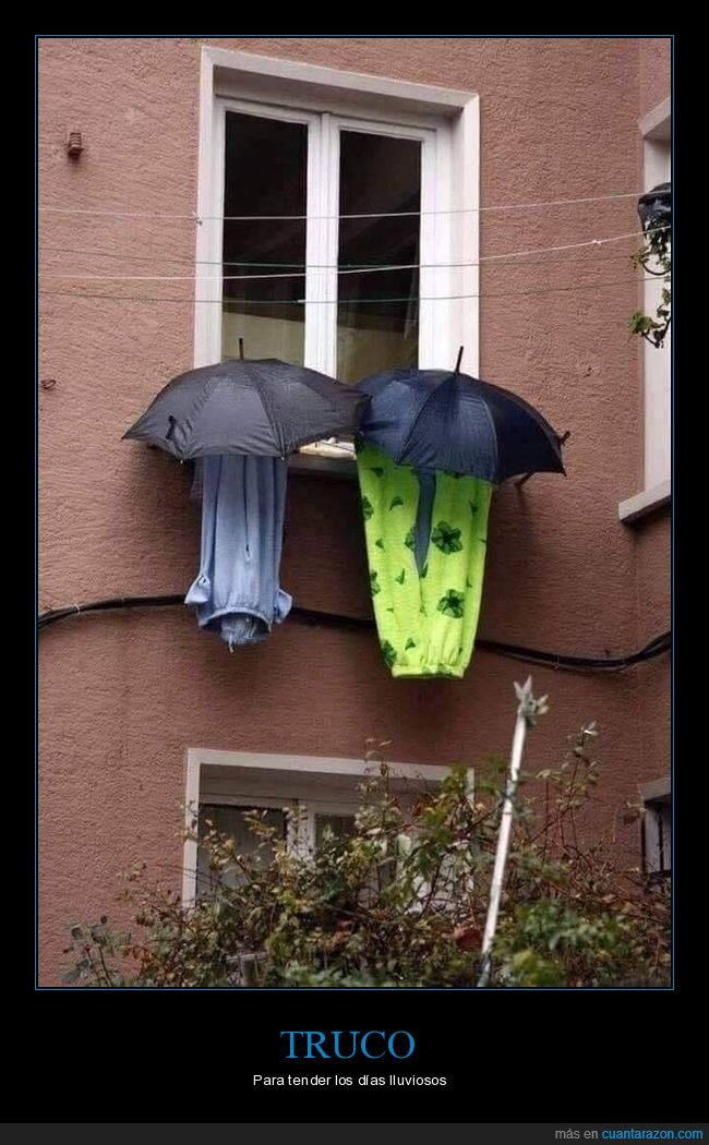 lluvia,paraguas,tender,truco