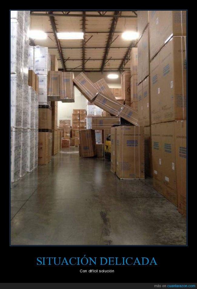 almacén,cajas,fails