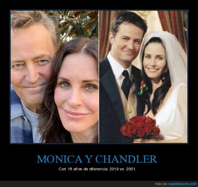 ahora,antes,chandler,friends,monica