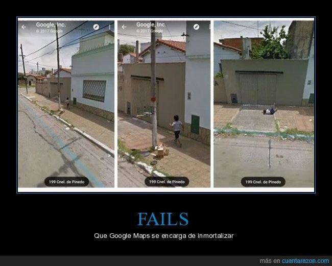 caída,google maps,niño,street view